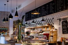 love this cafe in berlin Bar Interior Design, Cafe Design, Food Design, Interior And Exterior, Tom Dixon, Cafe Restaurant, Restaurant Design, French Coffee Shop, French Bakery