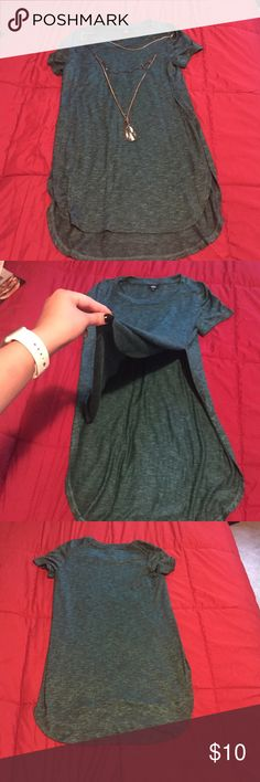 Cute Tunic Tee Teal tunic with slit on the sides. Perfect with leggings and even super cute with a bralette and shorts Mossimo Supply Co. Tops Tunics