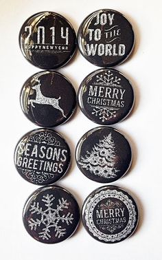 Chalkboard Christmas Flair by aflairforbuttons on Etsy, $6.00