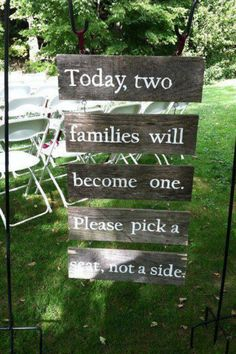 This is wonderful....brook will have a sign similar at her wedding