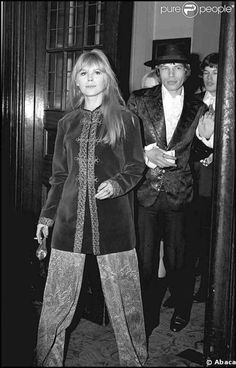 Marianne Faithfull  with Mick Jagger