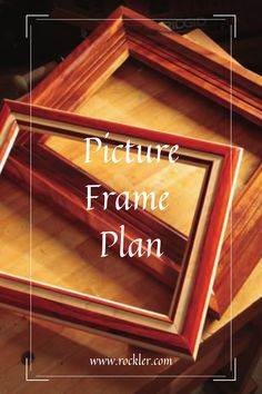 Our free plan provides the know-how for some gift appropriate, custom-built picture frames. Build your own today!  #freeplan #pictureframe #diyframe #pictureframeplan Easy Woodworking Ideas, Beginner Woodworking Projects, Woodworking Books, Whittling Projects, Handmade Table, Craft Show Ideas, Wood Working For Beginners, Diy Frame, Crafts To Sell