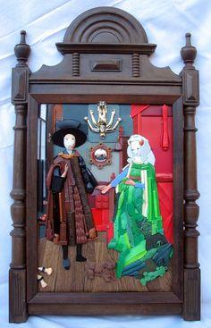 "recycled art -- jan van eyck ""the arnolfini portrait"" wedding [painting remade"