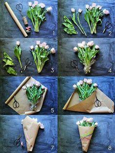 إزاى تلف بوكيه ورد How to wrap roses