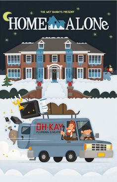 Home Alone (1990) ~ Alternate Ending ~ Minimal Movie Poster by Eva Galesloot #amusementphile