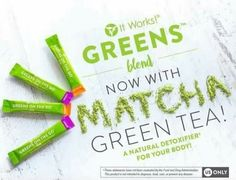 Ordered my greener greens now with Matcha Tea!! I need all the help I can get losing these 40 pounds  and I love the energy I get from drinking my greens!!   Did you know  thwre are benefits to consuming MATCHA TEA   It's packed with #antioxidants including the powerful EGCg  #Boostyourmetabolism & #burnmorecalories   #Detoxifies effectively and naturally  Calms the mind and relaxes the body  Is rich in fiber chlorophyll and vitamins  Enhances mood & aids in concentration  Provides vitamin C…