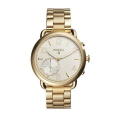 c51c0e51d93d0 Shop Fossil Q Tailor Hybrid Smartwatch GoldTone Steel GoldTone Steel at  Best Buy. Find low everyday prices and buy online for delivery or in-store  pick-up.