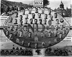 The 1924 Notre Dame football team finished 10-0 to earn the school's first national championship.