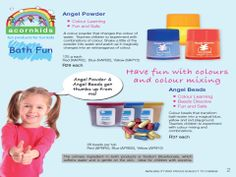 Angel Powder - R29.00  Angel Beads - R37.00 Fun Learning, Teaching Kids, Lauren Miller, Good Manufacturing Practice, Best Bath, Color Powder, Mom And Dad, Cool Kids, Dads