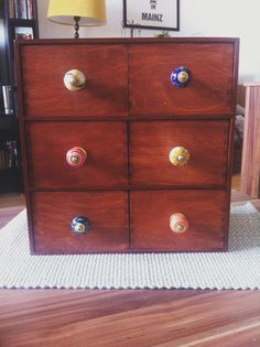 Ikea Moppe. Officially pimped with vintage knobs.
