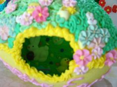 Notice all the eggs scattered in the grass hidden by the many chicks and ducks? My dear husband decorated this egg. He was always so supportive of my sharing the magic of making panoramic sugar eggs. Months before Easter our kitchen would be over run with frosting decorations and sugar. He knew what to expect and he encouraged it anyway. He died very unexpectedly this time last year. He has left many simple reminders like this, that he loves me. I am so very grateful. I love him and miss him more than I know how to express. This Life