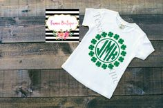 Boys monogram shirt boys st patricks day shirt by TexanaBoutique