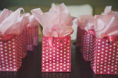 cute pink polka dot favor bags http://www.weddingchicks.com/2013/08/27/sexy-bachelorette-party-ideas/