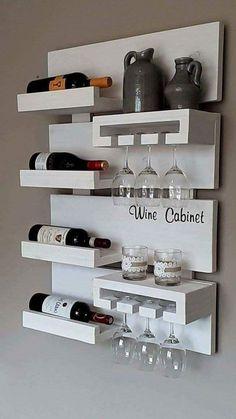 Wall Shelf Ideas (Shelves for Every Room) - 27 Exclusive Wall Shelf Ideas - Mini Bars, Design Jobs, Küchen Design, Design Ideas, Free Design, Blog Design, Creative Design, Diy Home Bar, Bars For Home