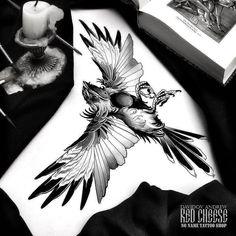 Black Tattoos, New Tattoos, Body Art Tattoos, Bird Drawings, Tattoo Drawings, Tattoo Art, Tattoo People, Desenho Tattoo, Dark Tattoo