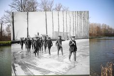 The Somme canal, Frise, France. | 11 Time-Travelling Photos Of World War One: Then And Now