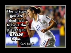 Soccer Inspirational Quote Wall Art, Daughter Best Friend Birthday Gift for Friend, Carli Lloyd Motivation Photo Poster, Wall Decor by ArleyArt Inspirational Quotes For Girls, Inspirational Wall Art, Girls Soccer, Soccer Sports, Soccer Ball, Soccer Couples, Soccer Pics, College Soccer, Soccer Usa