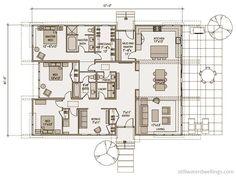 Detailed Floorplan sd133 « Stillwater Dwellings 2325 sq ft