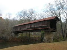 The Waldo Covered Bridge (01-61-02), also known as the Riddle Mill Covered Bridge, is a privately owned wood & metal combination style covered bridge that spans Talladega Creek in Talladega County, Alabama. Built in 1858, Howe through truss.