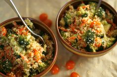 Broccoli and Quinoa Salad with Mustard Dressing