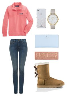 """Untitled #10"" by etraywick on Polyvore featuring Vineyard Vines, NYDJ, UGG Australia, Kate Spade and Urban Decay"