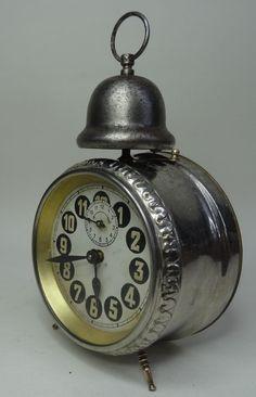 antique alarm clock - Antiker gr. mechanischer Wecker Tischuhr Uhr ~1900