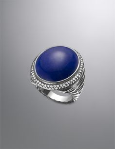 David Yurman Signature Oval Ring, Lapis