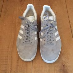f56f511385d38 adidas Shoes | Adidas Gazelle Greywhite Size 6.5 Worn Once | Color: Gray |  Size