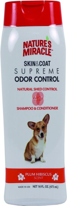 Nature's Miracle Supreme Odor and Shed Control Shampoo >>> Read more reviews of the product by visiting the link on the image.