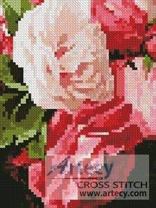 Mini Roses 2 - cross stitch pattern designed by Tereena Clarke. Category: Arts.