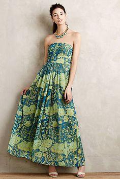 Watercolor Garden Maxi Dress