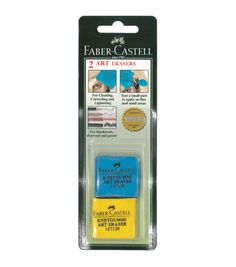 Faber-Castell® 2ct Colored Kneaded Art Erasers