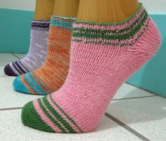 SUMMER STRIPED SOCKLET by Lynn Hershberger This fun, fast summer socklet includes a few unusual twists. Use two contrasting yarns to make some color fun! Either use two solid yarns or sub one for a nearly-solid to get a bit of texture. $6