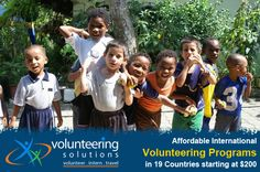 Be a part of over 5000 volunteers who have volunteered with Volunteering Solutions, which provides affordable Volunteer and Intern Abroad programs in 19 countries starting $200!  2 wks at Peru orphange for $490