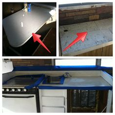 Downtime. Upcycle.: Camper Progress and DIY counter tops