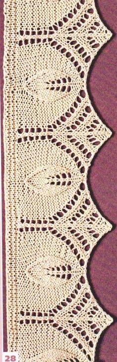 Motifs au tricot Knitting Stiches, Knitting Charts, Lace Knitting, Crochet Stitches, Stitch Patterns, Knitting Patterns, Crochet Patterns, Gilet Crochet, Knit Crochet