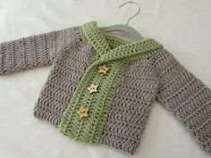 This tutorial will show you how to crochet a chunky winter children's sweater / cardigan / jumper. This sweater is suitable for beginners. For size 0 - 6 mon...