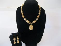Fancy Gold Jasper Pendant with Gold Crystals and by MDJewelCraft, $28.00