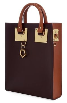 Love. Free shipping and returns on Sophie Hulme Colorblock Leather Tote at Nordstrom.com.