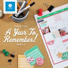 Make this a year to remember using Creative Memories products to document your life in pictures. These cute planner style papers and embellishments would enhance any page. #creativememories #planning #planner #documentyourdays #projectlife