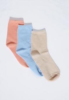 Missguided - Three Pack Basic Pastel Socks Multi