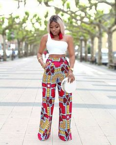 Latest Ankara Trousers For Women