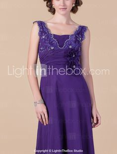 A-line Plus Sizes / Petite Mother of the Bride Dress - Regency Floor-length Sleeveless Chiffon / Lace 2015 – $99.99