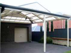DMV Adelaide builds a wide range of modern carport, pergola, verandah, and patio designs - SA highest quality materials and services at an affordable price Carport Patio, Gazebo Pergola, Steel Pergola, Pergola Plans, Pergola Ideas, Patio Ideas, Pergola Designs, Patio Design, Modern Carport