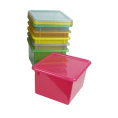 Letter Size Colored Plastic Storage Containers