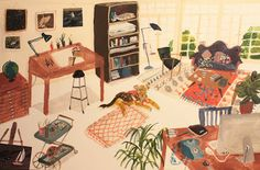Kirsten Sims: I've been painting in my bedroom for 5 years. This is what I'm working towards :)