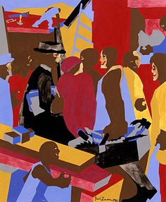 Jacob Lawrence&#39-s Great Migration series on view at MoMA | WTOP