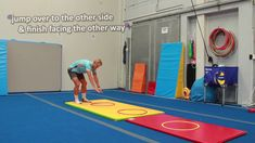 How to teach the side hoop jumps in your Gymnastic PE lessons (grades If you want more ideas, check out our awesome Gymnastic Stations Pack (online dow. Gymnastics Warm Ups, Toddler Gymnastics, Gymnastics Levels, All About Gymnastics, Preschool Gymnastics, Gymnastics For Beginners, Gymnastics Lessons, Gymnastics Coaching, Fun Warm Up Games