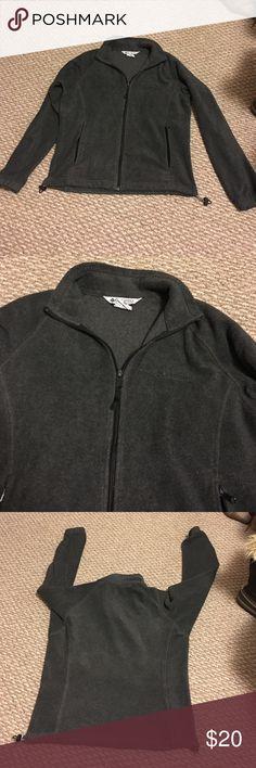 ✨FINAL SALE✨Grey Columbia Fuzzy and warm grey Columbia. Good condition with normal wear. Columbia Tops Sweatshirts & Hoodies