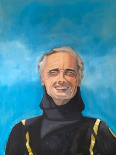 Jacque Cousteau 2, by Diana Dzene, oil on wood panel, done in 2021. Jacques Cousteau, Wood Paneling, Instagram Accounts, Diana, Batman, Oil, Superhero, Canvas, Painting